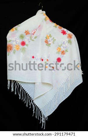 Textiles, Shawl, Garment, Wool Scarf - stock photo