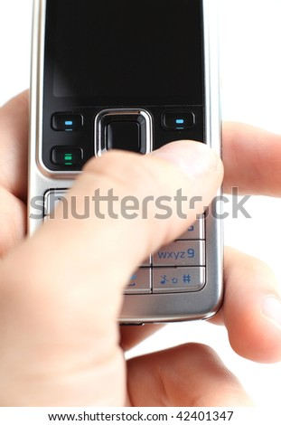texting on a mobile/cell phone
