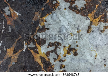 Textural image. Closeup of  old house wrinkled wall.