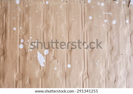texture - a sheet of the old paper with paint - stock photo