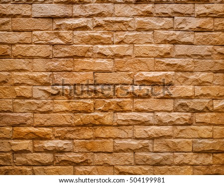 Texture and background of Artificial Stone decorative wall pattern design rectangle horizontal