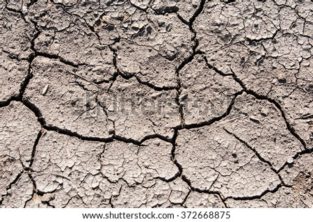 Texture, background, cracked from the heat the earth. Dry cracked earth background, clay desert texture. The cracked clay ground, cracked mud texture, cracked earth background. - stock photo