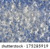 texture background, macro photo of irregular pattern of ice crystals - stock photo