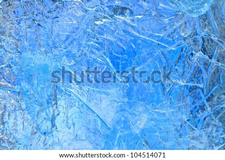 Texture Background of Artificial Iceberg - stock photo