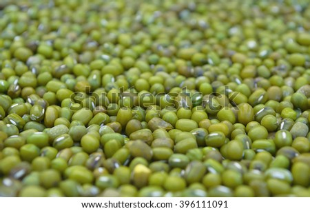 Texture background of green beans. (blur and select focus some parts) - stock photo