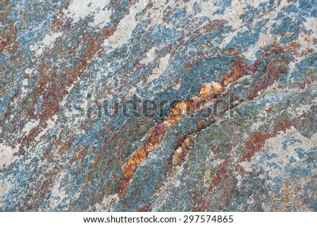 Texture background of rock granite stone in many color