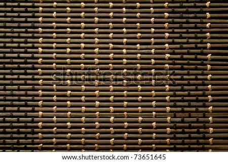 Texture bamboo wood, brown background - stock photo