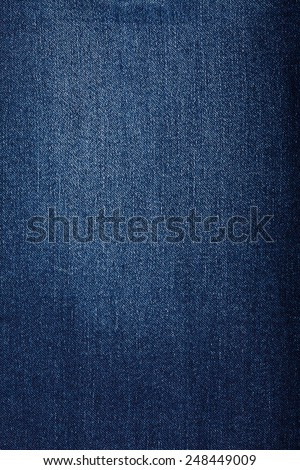 texture blue denim - stock photo