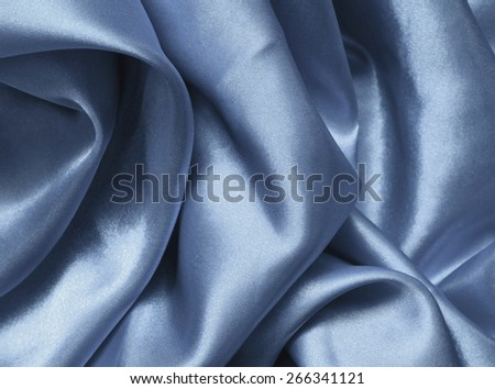 Texture blue satin, silk background - stock photo