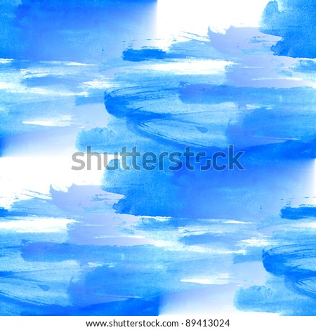 texture blue sea seamless picture abstract watercolor background - stock photo