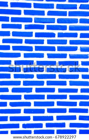 Texture Brick Wall For Background Or Wallpaper Of Blue Color