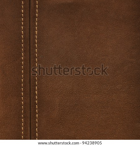 Texture brown leather - stock photo