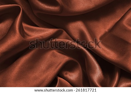 Texture brown satin, silk background - stock photo