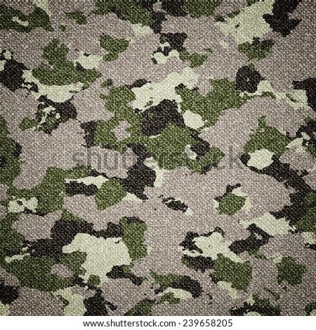 texture camouflage fabric - stock photo