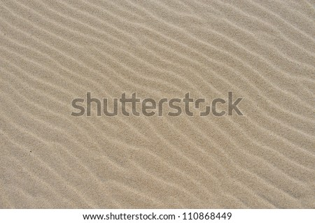texture carved by the wind in sand - stock photo