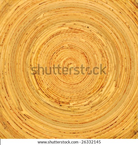 texture - circular pressed bamboo - stock photo