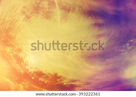 Texture clouds sunset background - stock photo