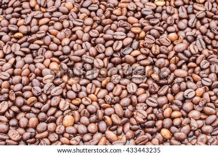 texture coffee - stock photo