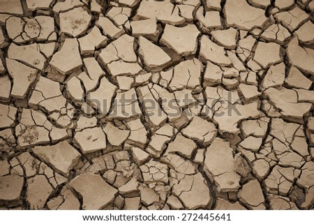 texture crack cracked dried soil                      - stock photo