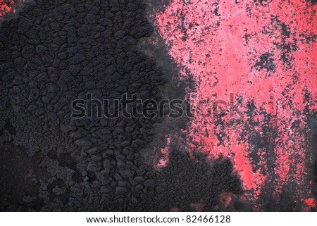 texture dirty pink iron - stock photo