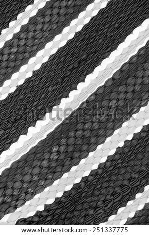 Texture doormat black and white. - stock photo