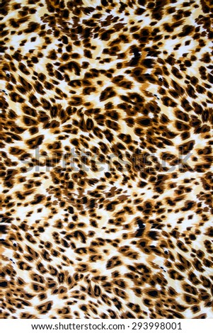 Texture fabric of leopard skin for background - stock photo