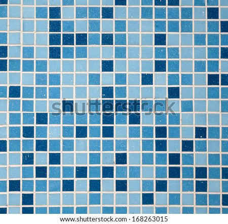 Texture finishing square tiles and blue blue