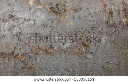 Texture from chipping paint of metal pole - stock photo