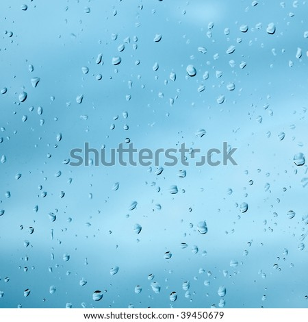 Texture from droplets of rain water on windowpane surface