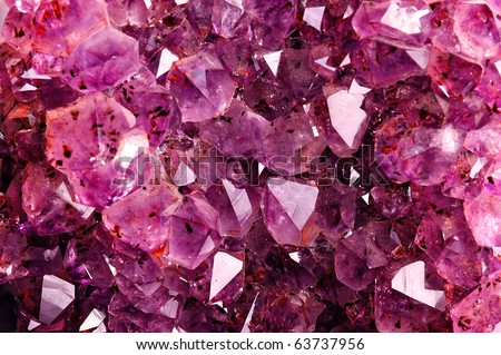 Texture from natural amethyst - stock photo