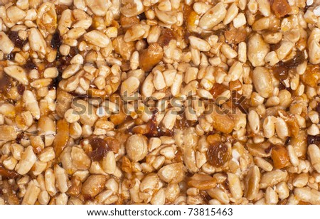 texture from nut and dry fruit - stock photo