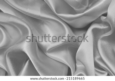 Texture gray satin, silk background - stock photo