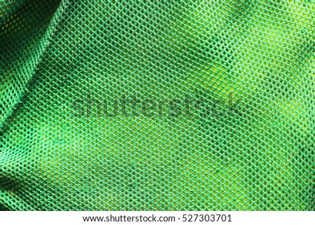 Texture green mesh fabric for jackets