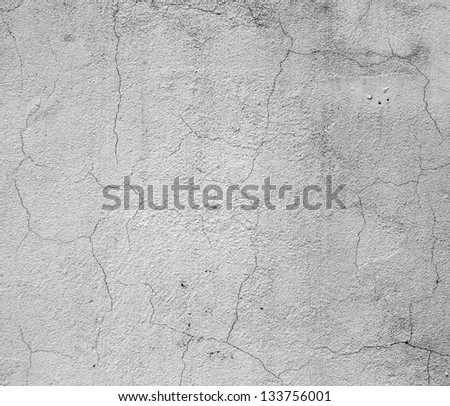 Texture grey concrete wall with cracks. - stock photo