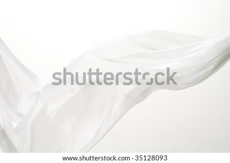 TEXTURE IMAGE- unique shape of a  white cloth - stock photo