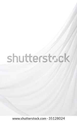 TEXTURE IMAGE- wrinkles of the  white cloth - stock photo