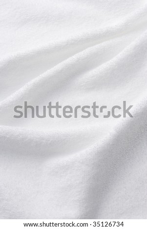 TEXTURE IMAGE-wrinkles of the white towel - stock photo