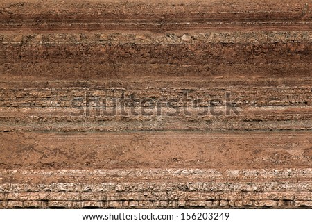 texture layers of earth - stock photo