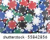 Texture made from a poker chips - stock photo