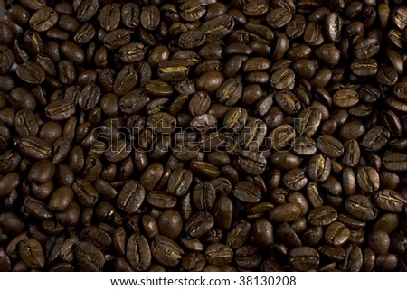 Texture made up of coffee beans - stock photo
