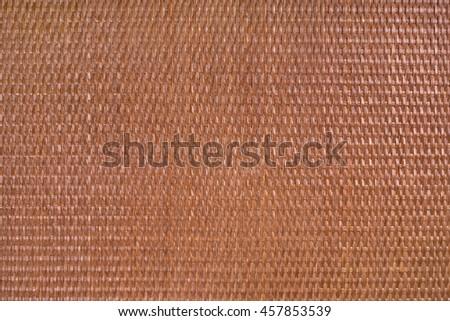 Texture material background of rattan dark brown horizontal - stock photo