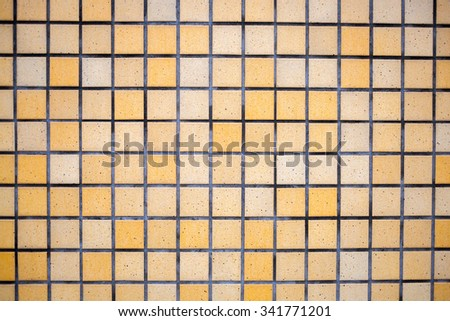 texture of a brown ceramic tiled wall