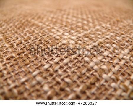 texture of a burlap cloth - stock photo