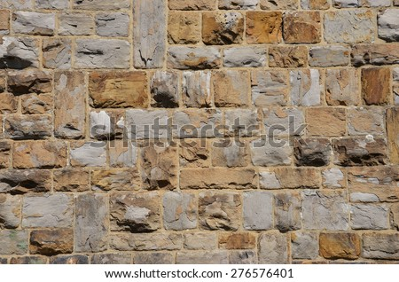 Texture of a natural stone wall