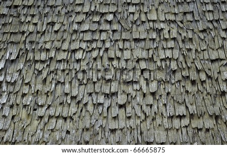 Texture of a shingle Roof - stock photo