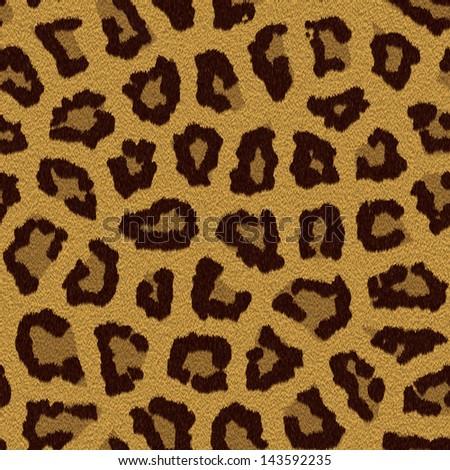 Texture of a short sand color leopard fur - stock photo