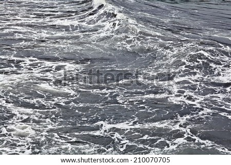 texture of a storm at sea gray waves