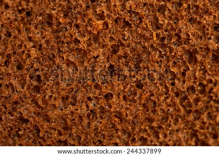 Texture of a surface of black bread