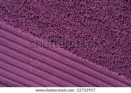 Texture of a violet towel - stock photo