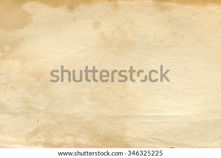 Texture of an old blank book page - stock photo